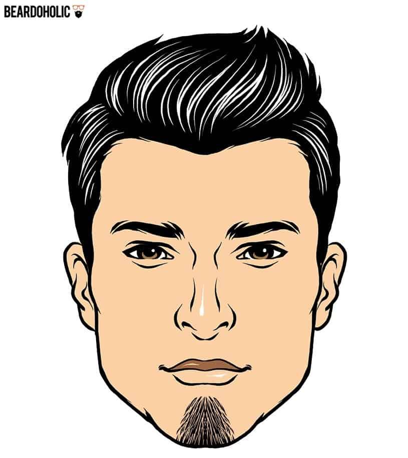 Landing strip goatee beard style