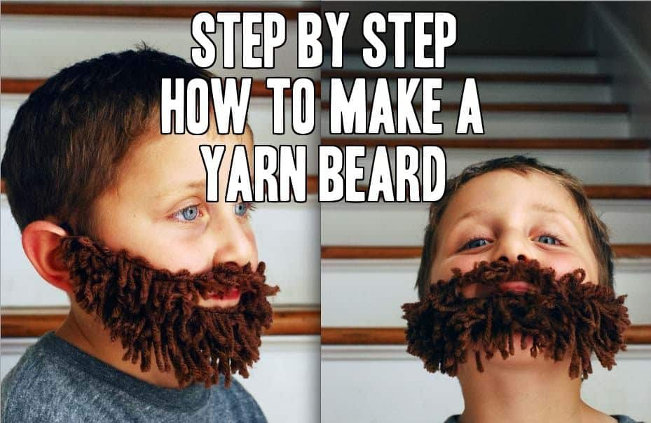 how to make yarn beard child