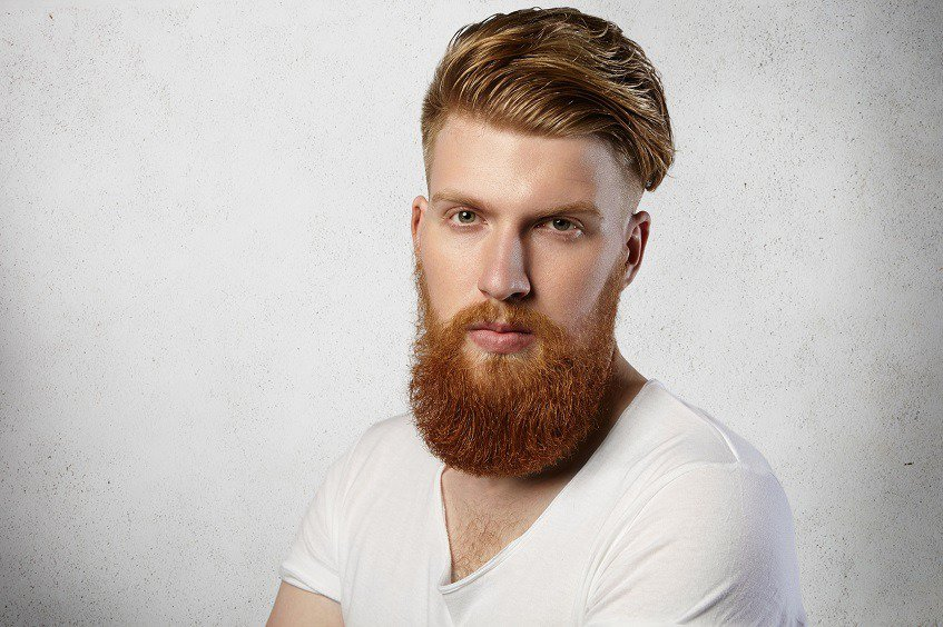 boy with ginger beard