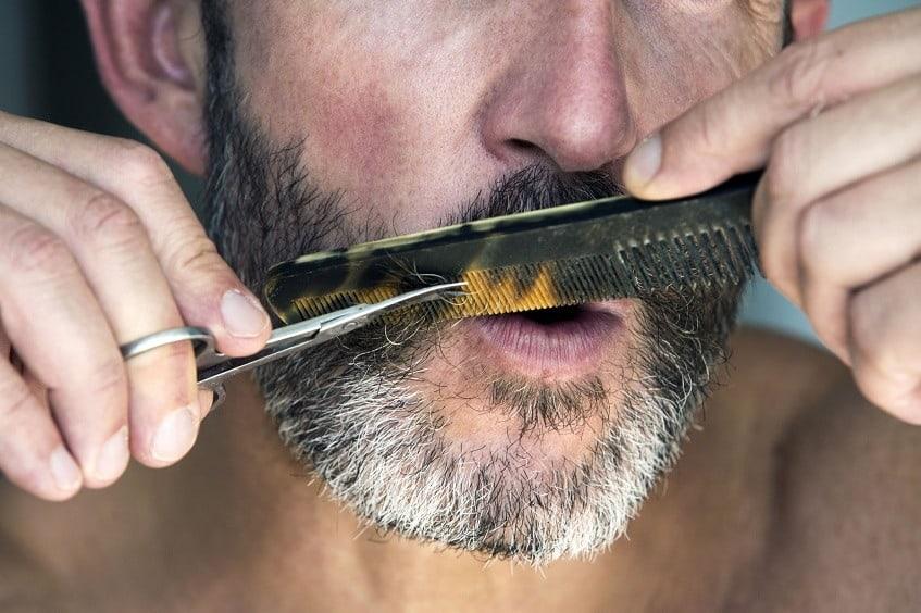 trimming handlebar mustache
