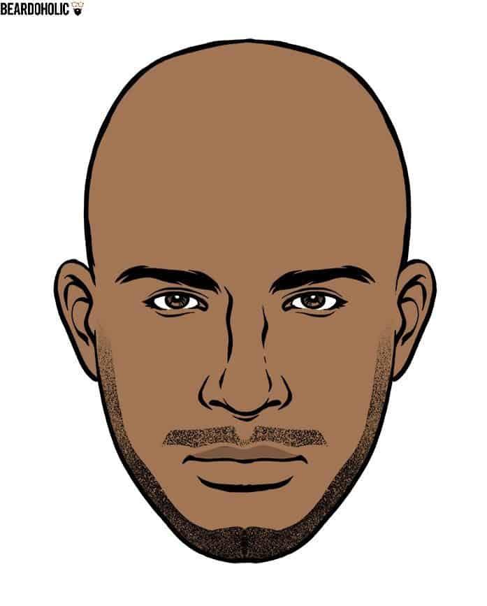 Black men goatee beard style