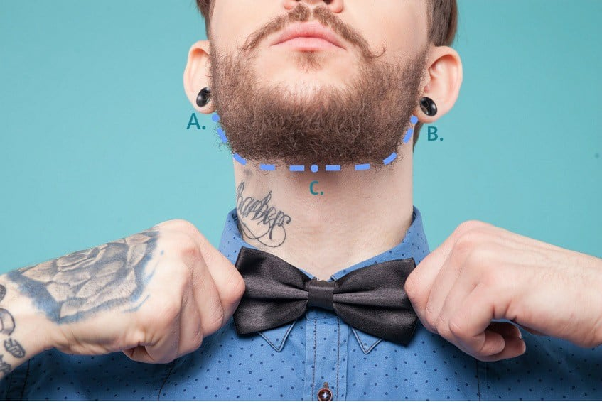 defined neckline - beard trim and shape