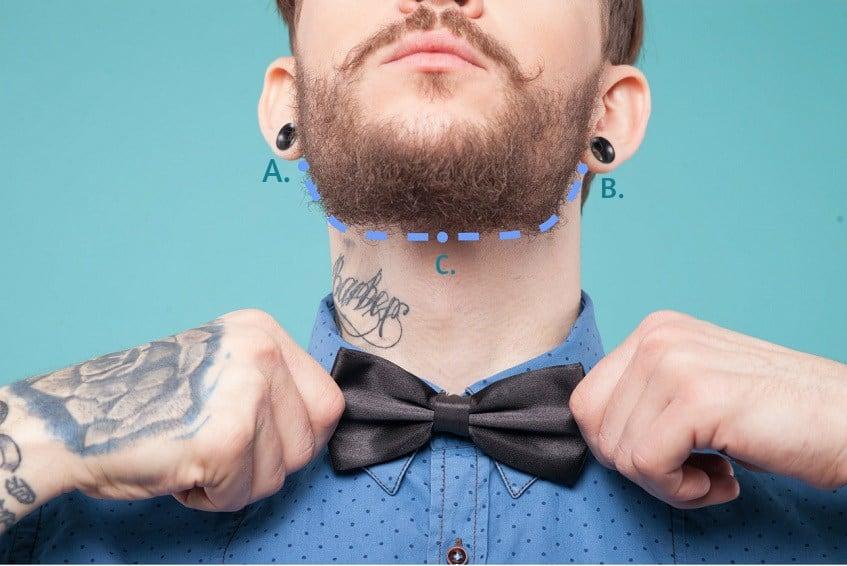 defined neckline - beard trim and shape
