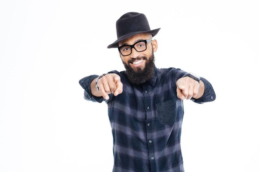 styled beard with beard oil