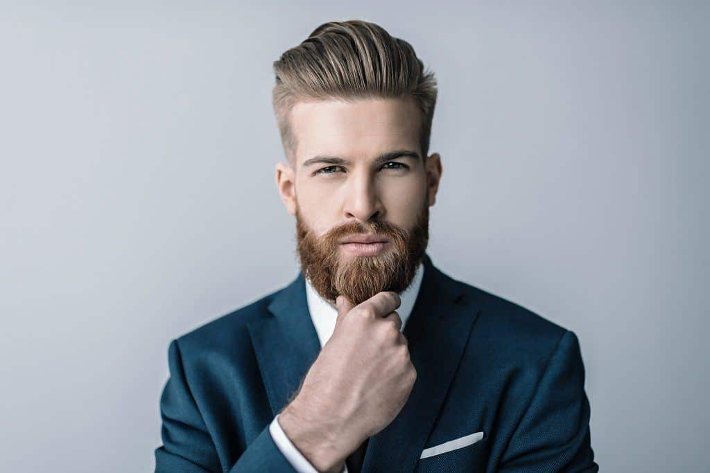Handsome guy with trimmed and shaped beard