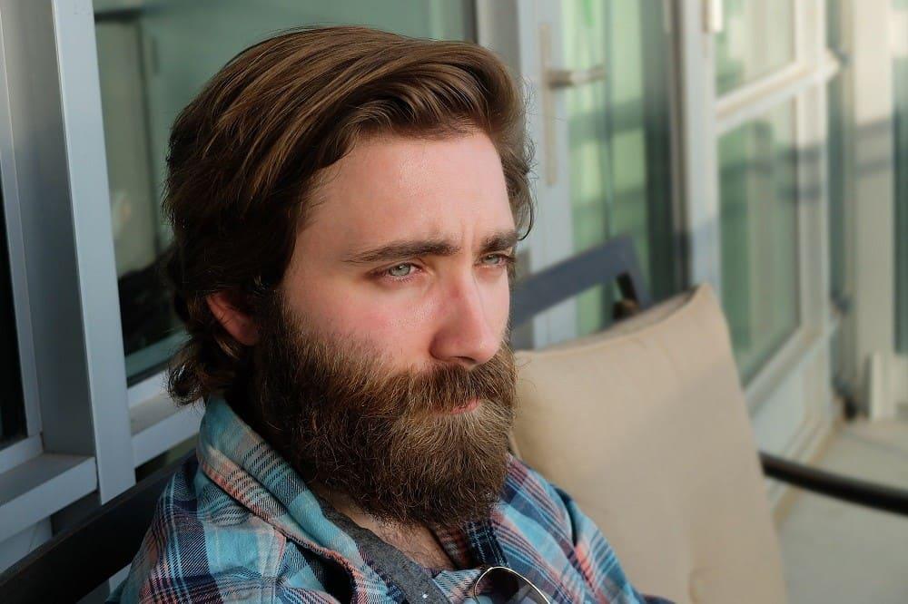 healthy beard with beard oil