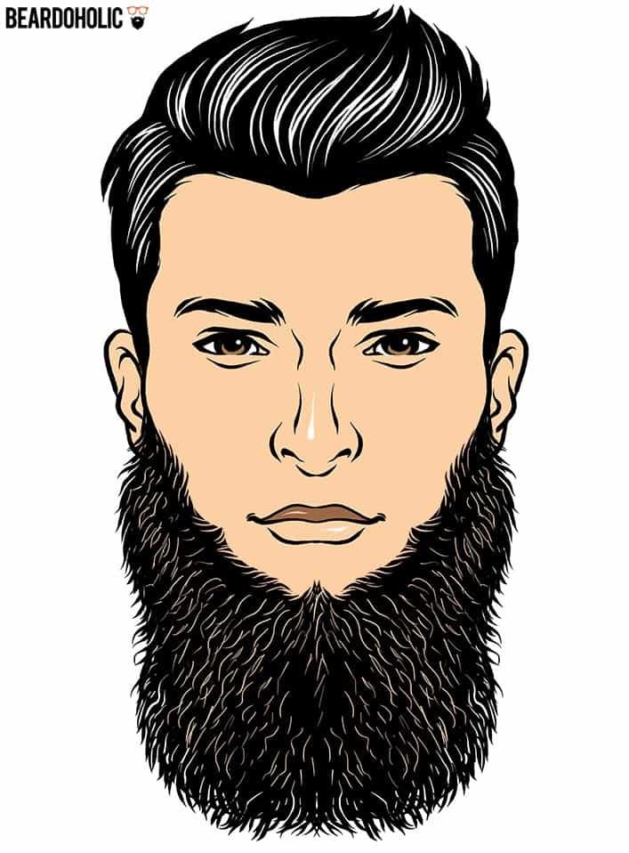 No mustache beard style