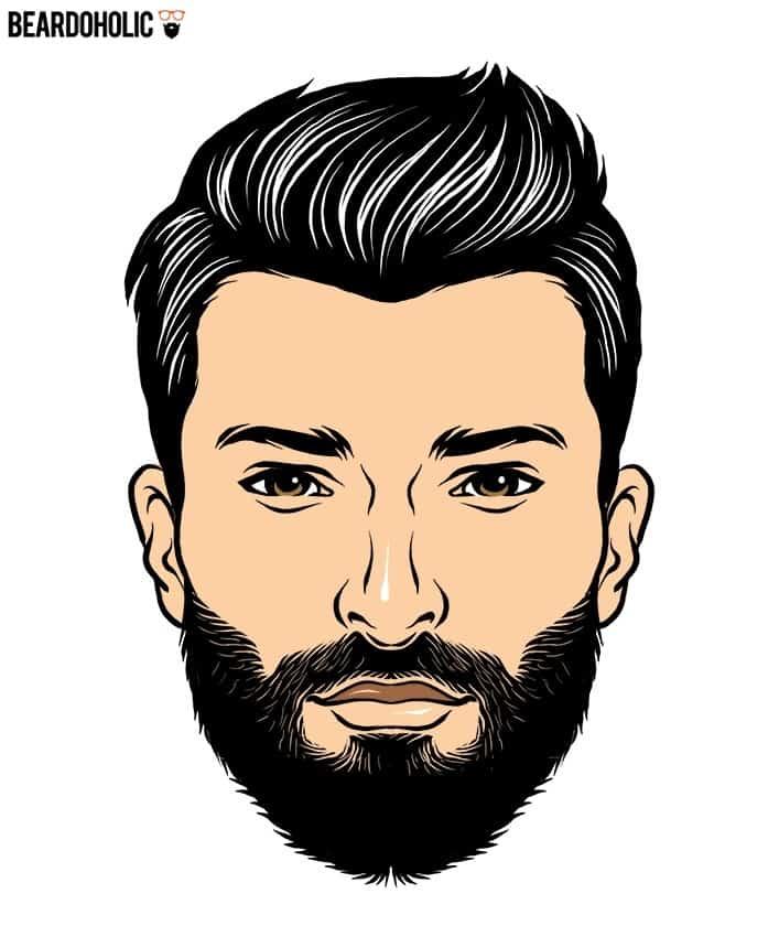 Medium beard style