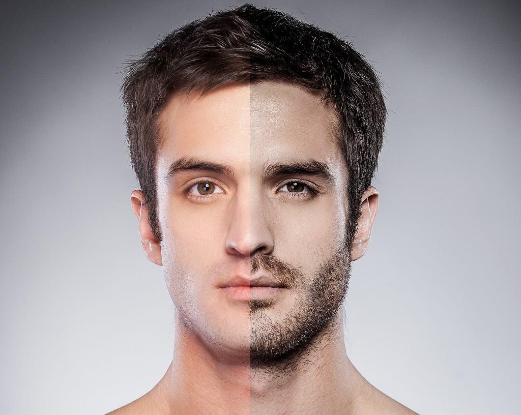 shaved vs 5 o'clock Shadow (stubble beard)