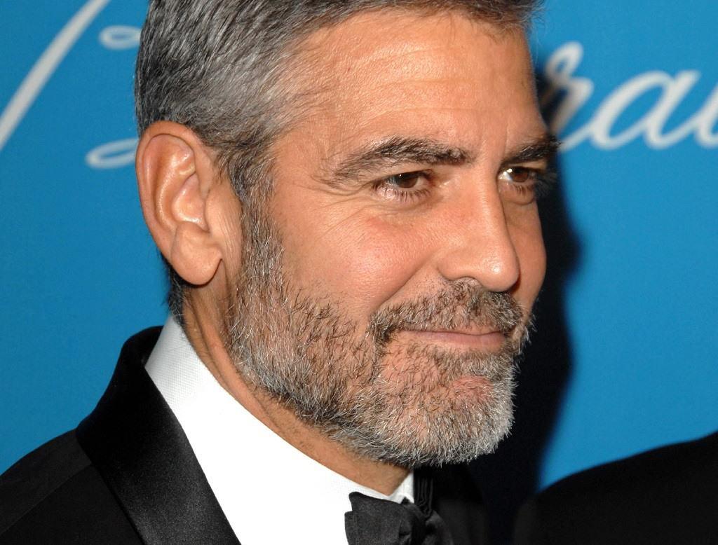 George Clooney 5 o'clock shadow aka stubble beard