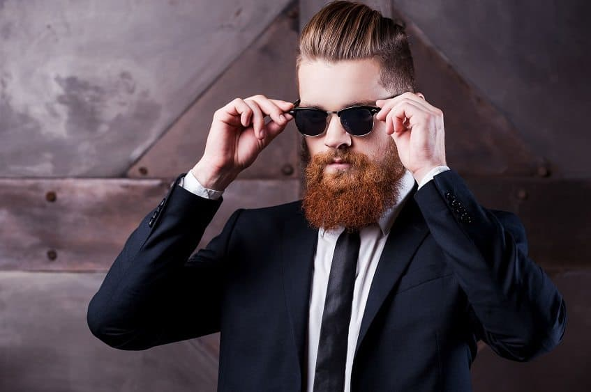 man with classy beard and sunglasses