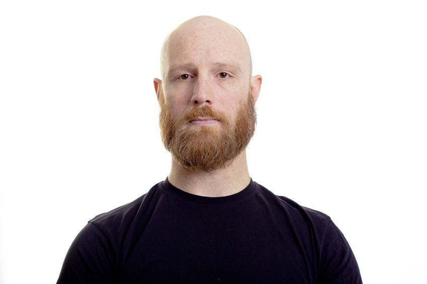 bald and full beard style