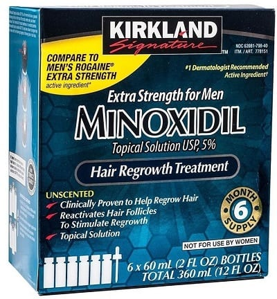 Kirkland Minoxidil for Men 5% Hair Regrowth Treatment