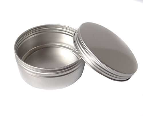 Gram Jar Cosmetic Sample Silver Aluminum Tins
