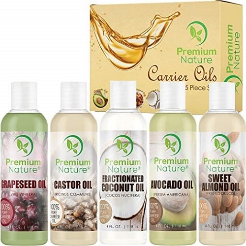 Premium Nature Carrier Oil – 5 Piece Set