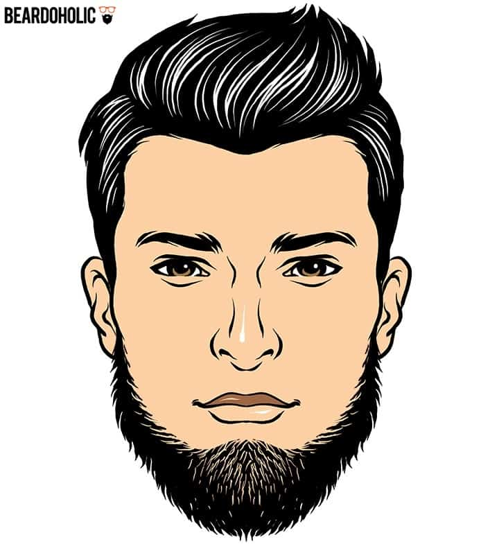 Outlined Full Beard
