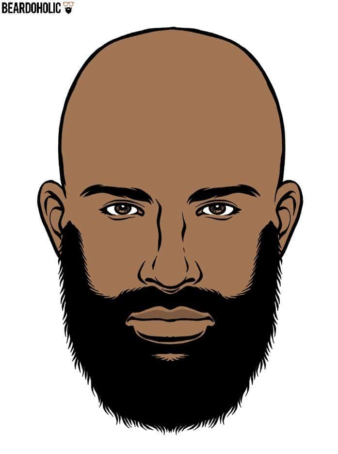 Ducktail Beard Style For Black Men