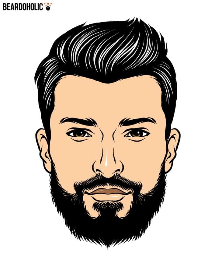 Long Hair with Short Beard In Short Beard Styles