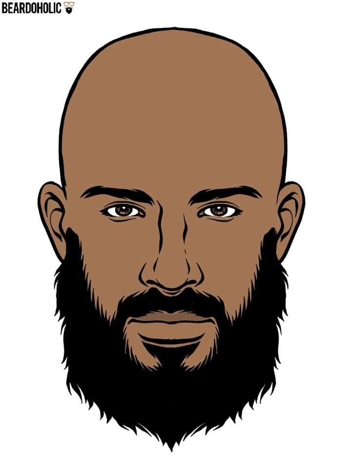 Black Men Ducktail Beard Style