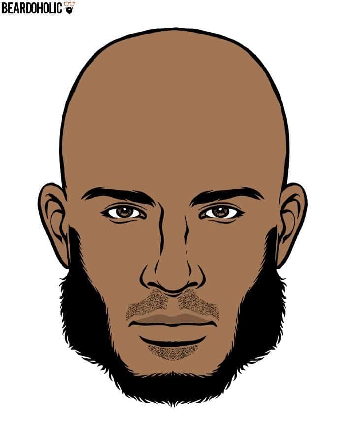 Black Men Mutton Chops Beard Style