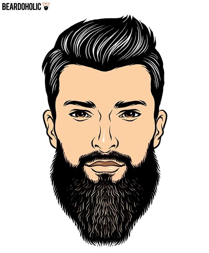 2. Bold Shaped Beard - Full and Long Beard Styles Bald Shaped Beard