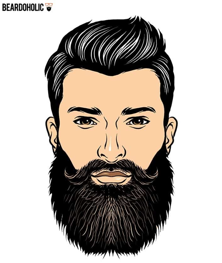 9. Clear Outline - Full Beard Styles