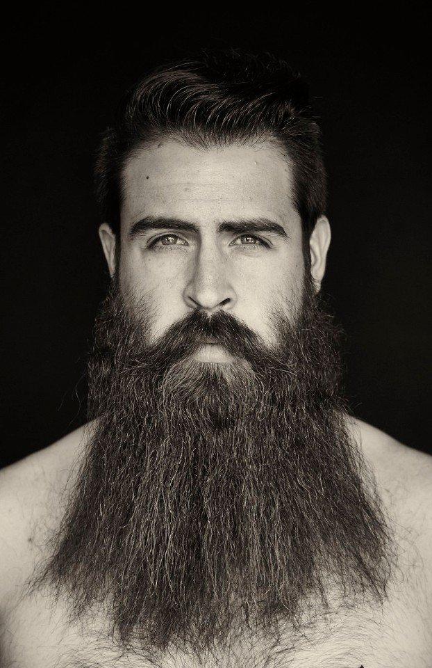 straight beard style