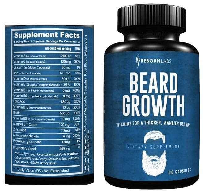Beard Growth Supplement with Vitamins