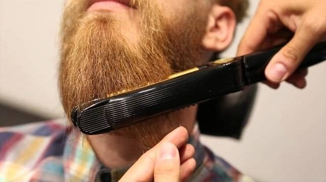 curly beard straightener