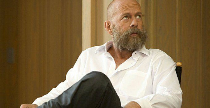 Bald and bearded Bruce Willis