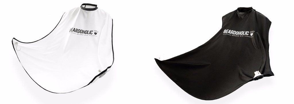Beardoholic beard bib (white/black)