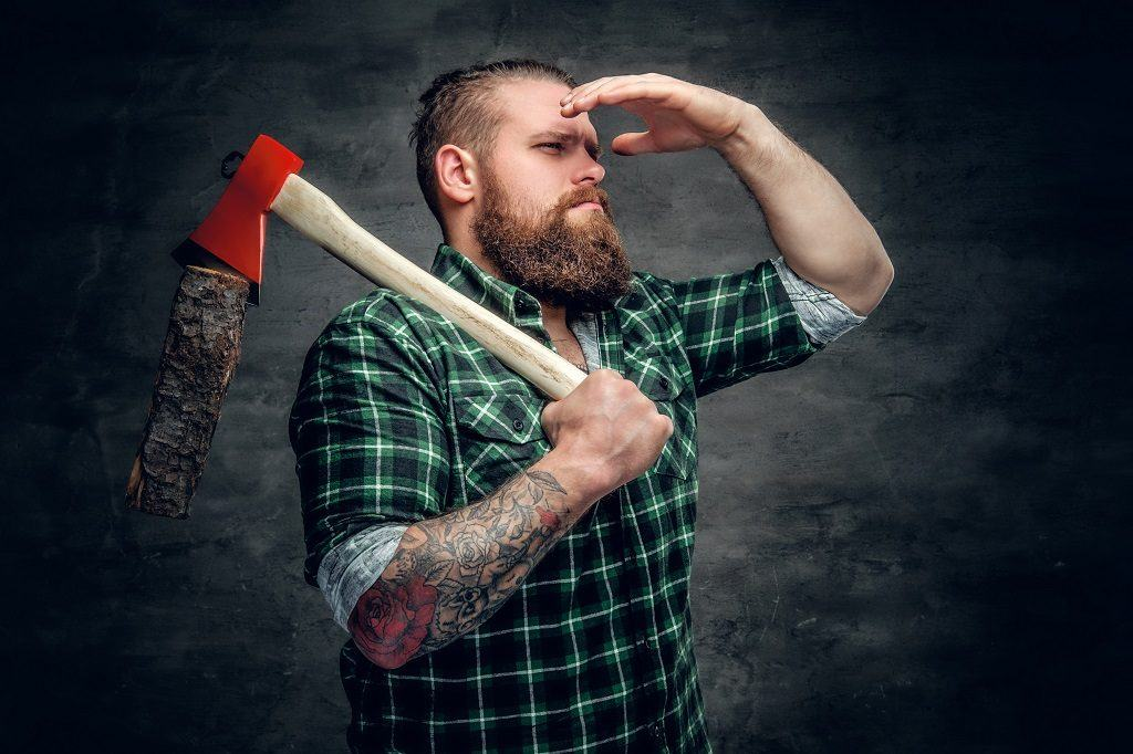 Lumberjack with beard