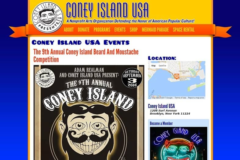 Coney Island Beard and Mustache Competition