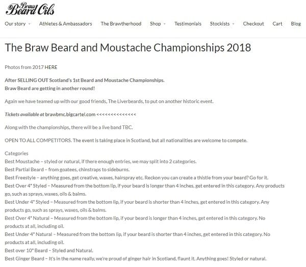 Braw Beard and Moustache Championships