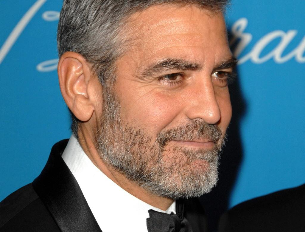 George Clooney 5 o'clock shadow aka stubble beard