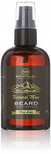 Botanical Skin Works Natural Man Bay Lime Beard Oil