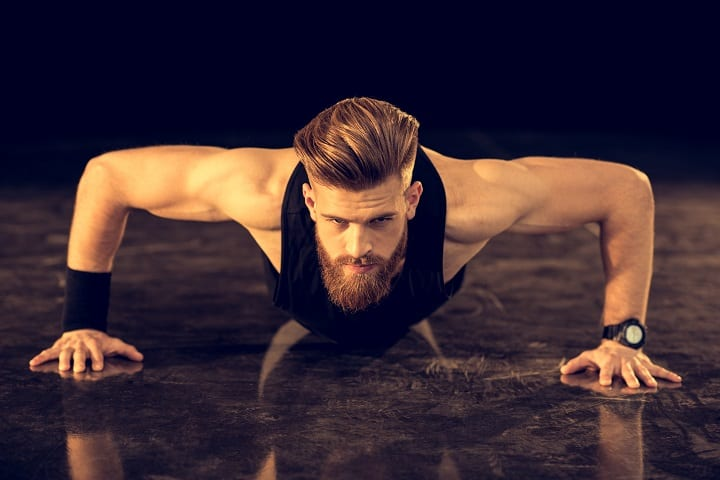 How to Get Rid off Dry Skin Under Your Beard - Work Out Regularly