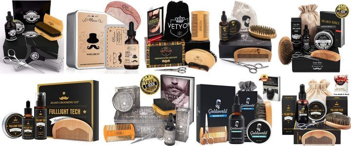 Best Beard Grooming Kit - All In One For a Perfect Beard (Great Gift)