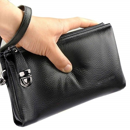 Men's Clutch Bag Genuine Leather Wallet