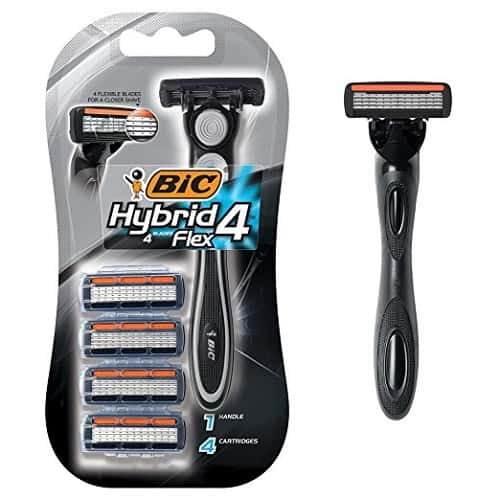 BIC Hybrid 4 Flex Disposable Razor with Cartridges