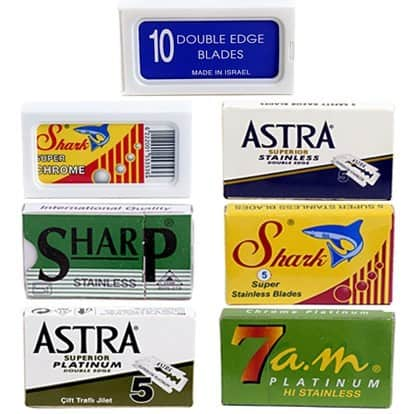 Double Edge Safety Razor Blades Variety Pack