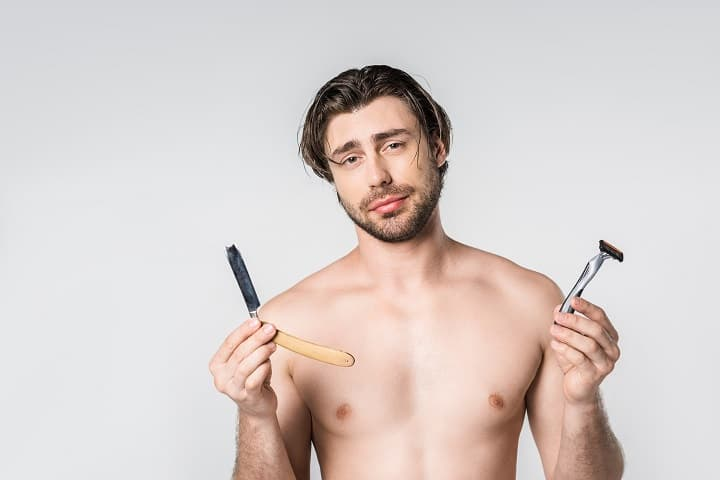 Razor Options in Shaving Kits for Men