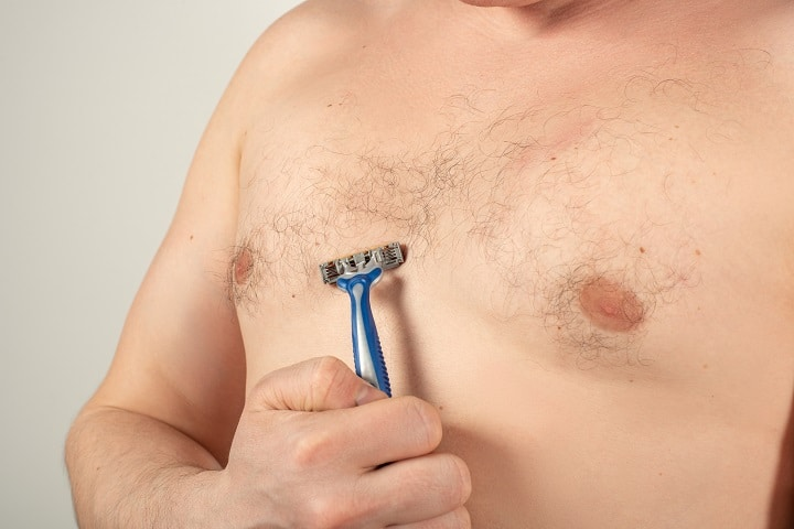 Tools for Chest Hair Removal - Razor